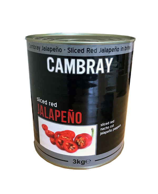 JA04 - Cambray Red Sliced Jalapeno 6x3kg