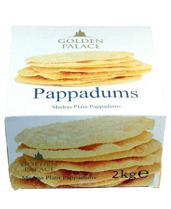 PA03 Golden Palace Pappadums 6x2kg