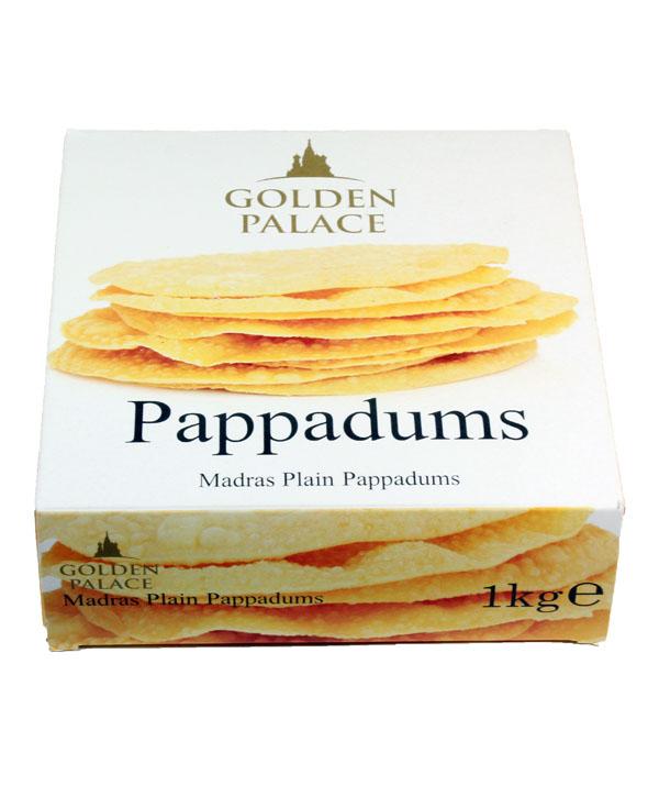 PA04 Golden Palace Pappadums 12x1kg